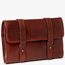 Buy JOHN LEWIS & Co. Leather Roll Wash Bag, Brown Online at johnlewis.com