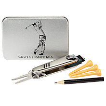 Buy John Lewis Golfers' Essentials Tin, Silver Online at johnlewis.com