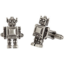 Buy Simon Carter Robot Cufflinks, Gunmetal Online at johnlewis.com