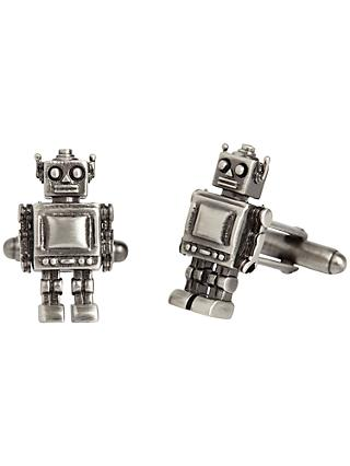 Simon Carter Robot Cufflinks, Gunmetal