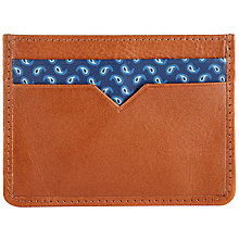 Buy John Lewis Paisley Leather Card Holder, Tan Online at johnlewis.com