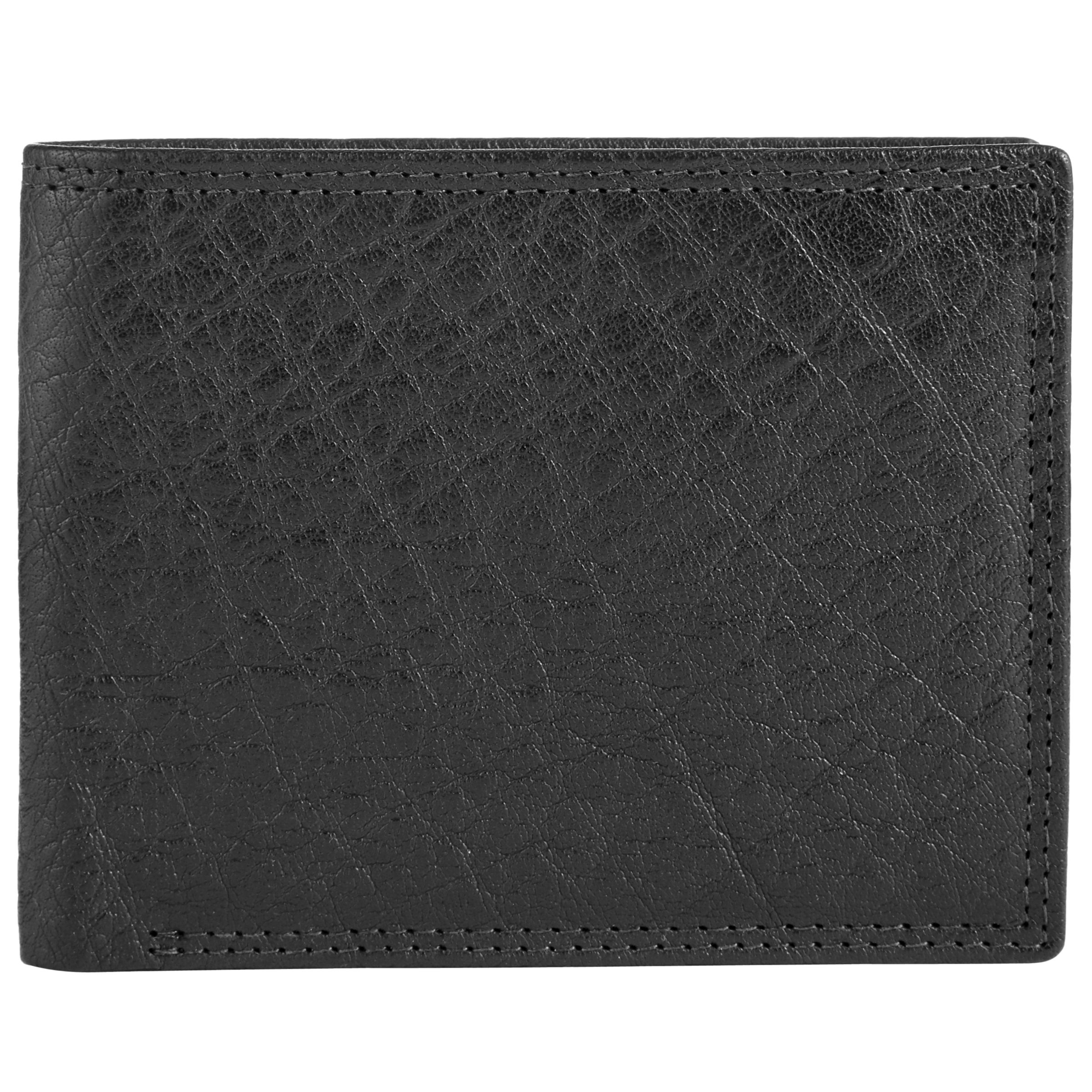 ee1ccd680643 John Lewis Bifold Katta Aniline Leather RFID Blocking Wallet, Black