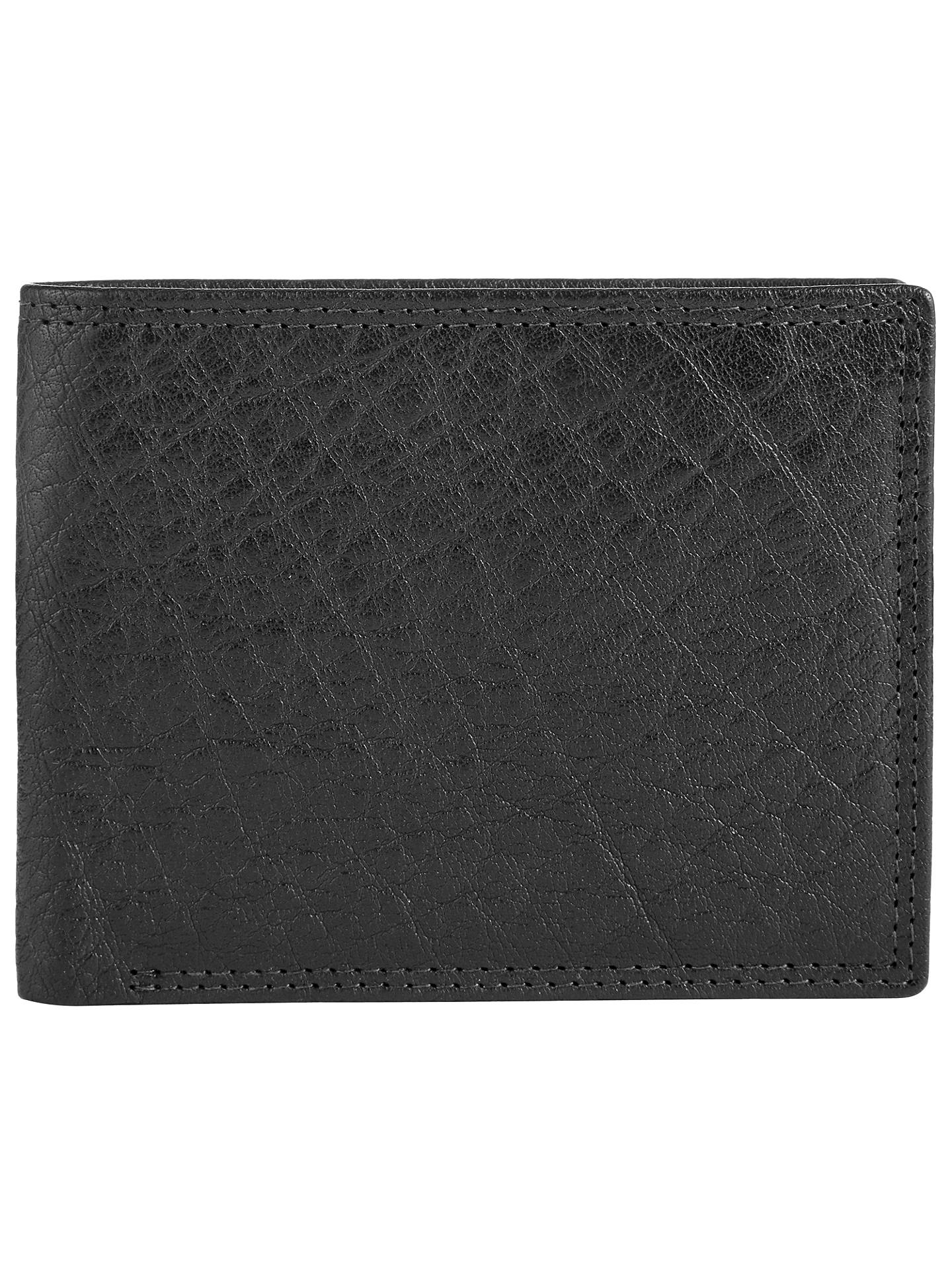 John Lewis Bifold Katta Aniline Leather RFID Blocking Wallet, Black