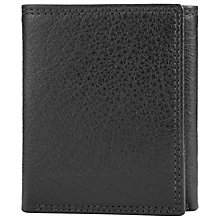 Buy John Lewis Katta Aniline Lether Trifold Wallet, Black Online at johnlewis.com