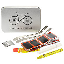 Buy John Lewis Puncture Repair Kit Cycling Tin, Silver Online at johnlewis.com