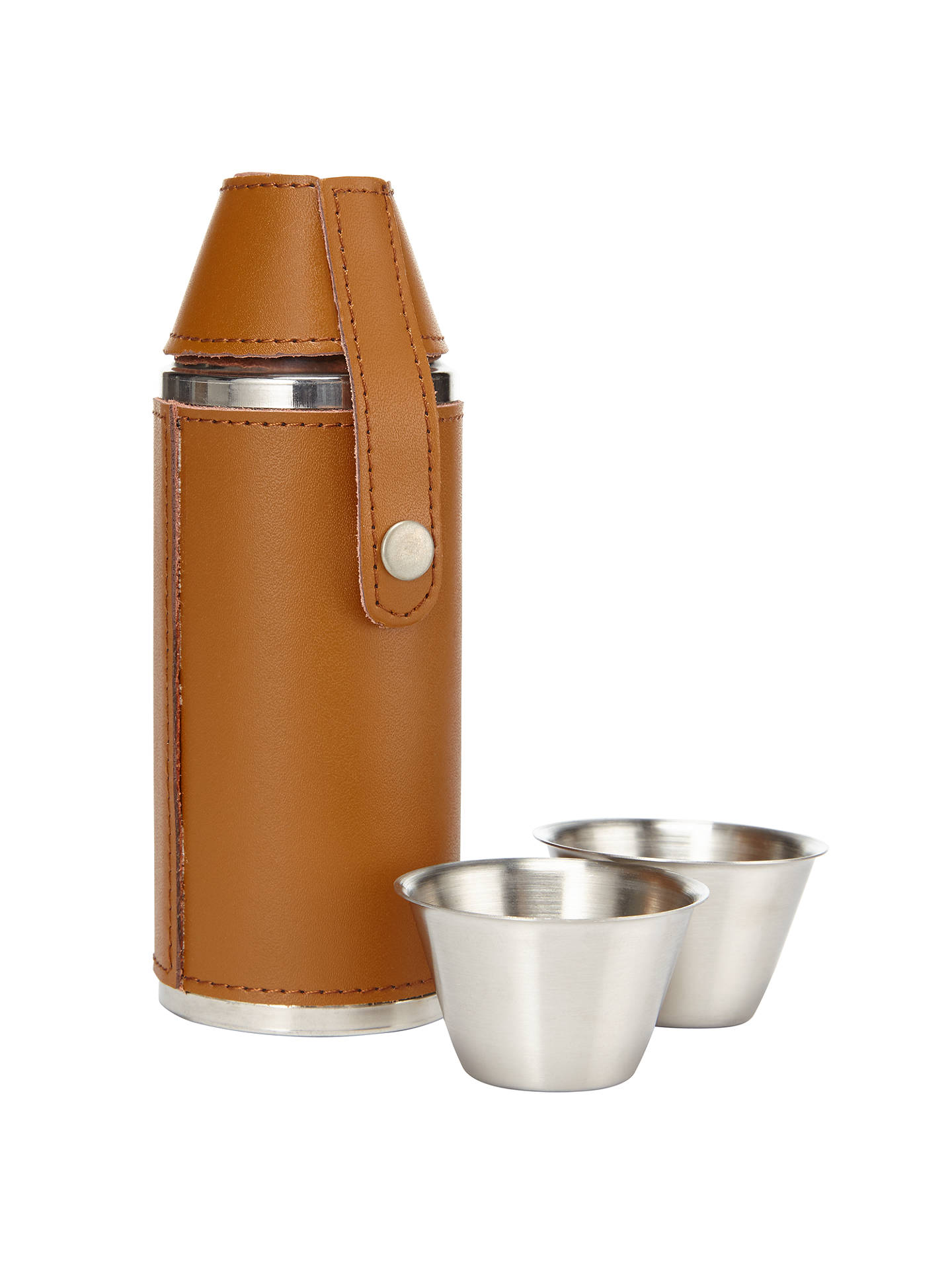 BuyJohn Lewis Hip Flask and Shot Glass, Brown Online at johnlewis.com