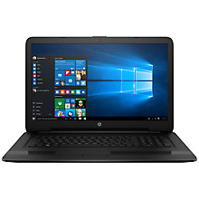 "Buy HP 17-x032na Laptop, Intel Core i5, 8GB RAM, 1TB, AMD Radeon R5, 17.3"" Full HD, Black Online at johnlewis.com"