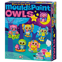Buy Mould & Paint Glow in the Dark Owls Kit Online at johnlewis.com