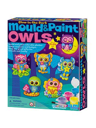 Mould & Paint Glow in the Dark Owls Kit