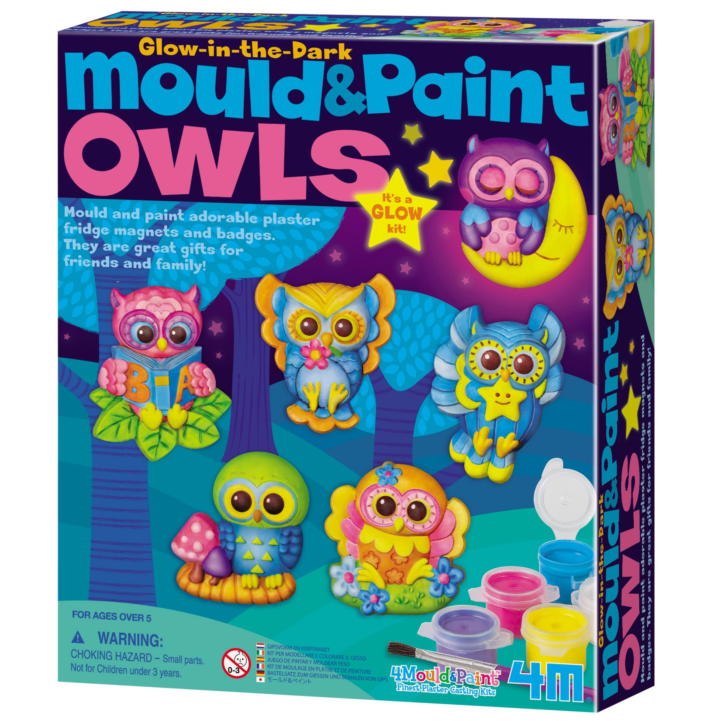 Great Gizmos Mould & Paint Glow in the Dark Owls Kit