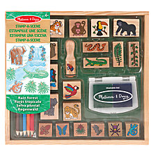Buy Melissa & Doug Stamp A Scene Rain Forest Kit Online at johnlewis.com