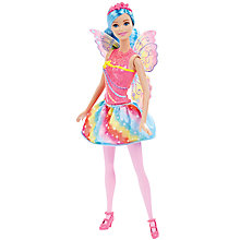 Buy Barbie Fairy Rainbow Gem Fashion Doll Online at johnlewis.com