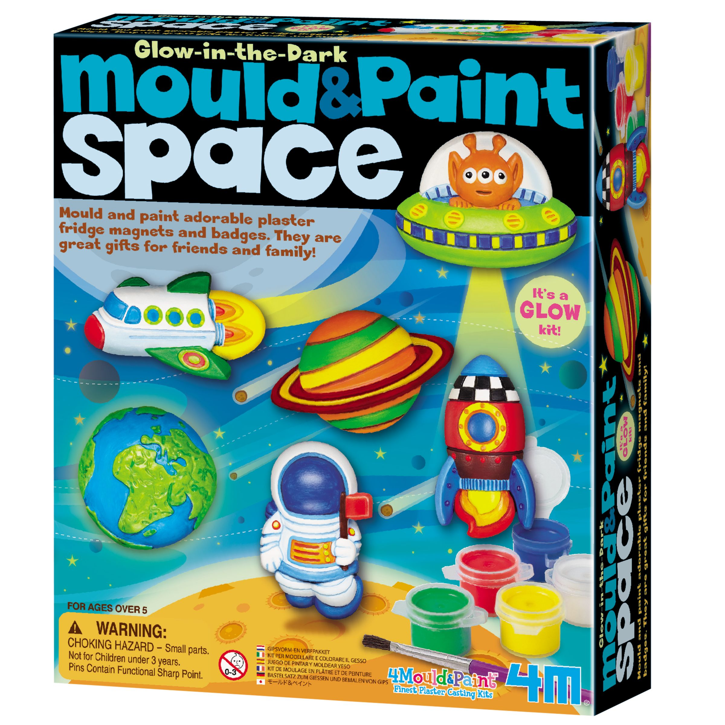 Great Gizmos Mould & Paint Glow In The Dark Space Kit