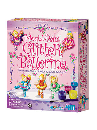 Buy Mould & Paint Glitter Ballerina Kit Online at johnlewis.com