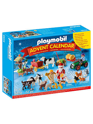 Buy Playmobil Christmas on the Farm Advent Calendar Set Online at johnlewis.com