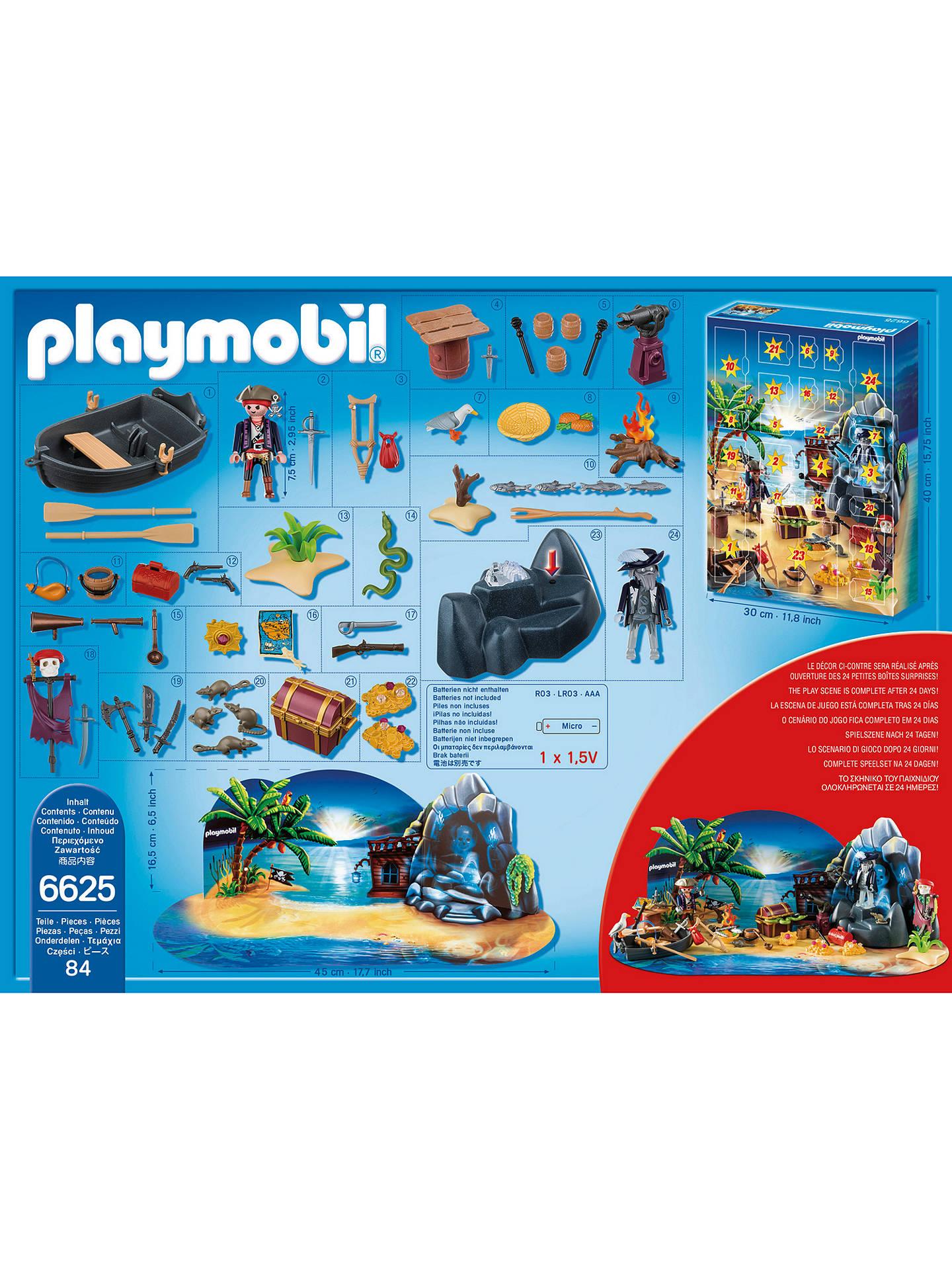 PLAYMOBIL® Advent Calendar /'Pirate Treasure Island/' Playset