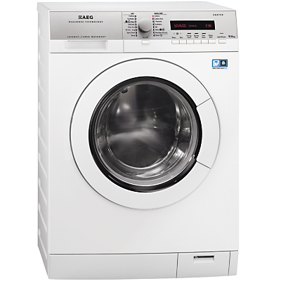 AEG L77695NWD Freestanding Washer Dryer, 9kg Wash/6kg Dry Load, A Energy Rating, 1600rpm Spin, White