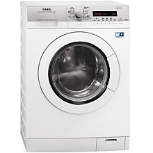 Buy AEG L77695NWD Freestanding Washer Dryer, 9kg Wash/6kg Dry Load, A Energy Rating, 1600rpm Spin, White Online at johnlewis.com