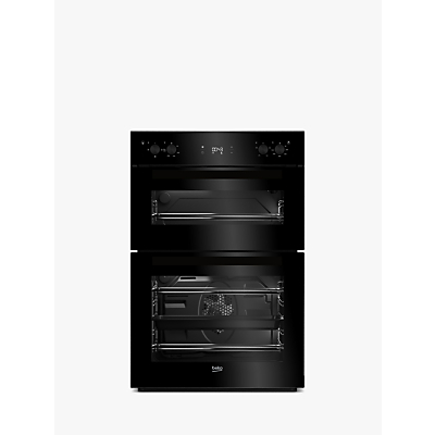 Image of Beko Bdf22300B 60Cm Built-In Electric Double Oven With Connection - Black - Oven Only