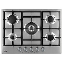 Buy Beko HCMW75225SX Integrated Gas Hob, Stainless Steel Online at johnlewis.com