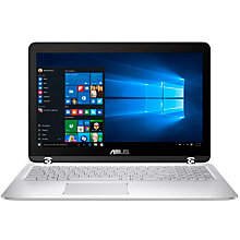 "Buy ASUS ZenBook Flip UX560UA Laptop, Intel Core i5, 12GB RAM, 512GB SSD, 15.6"" Full HD, Silver Online at johnlewis.com"