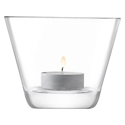 LSA International Light Conical Tealight Holder, 8cm