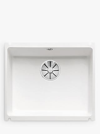 Blanco Subline 500-U Single Bowl Undermounted Ceramic Kitchen Sink, White