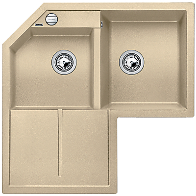 Blanco Metra 9 E Double Right Hand Bowl Corner Inset Kitchen Sink