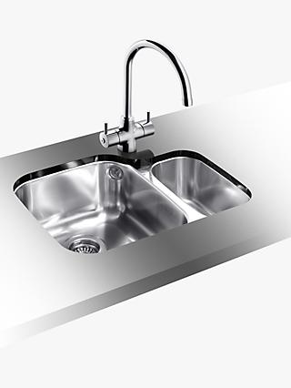 Blanco Supreme 533-U 1.5 Undermounted Kitchen Sink with Left Hand Bowl, Stainless Steel