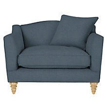 Buy John Lewis Melrose Snuggler, Oak Legs, Darwen Loch Blue Online at johnlewis.com