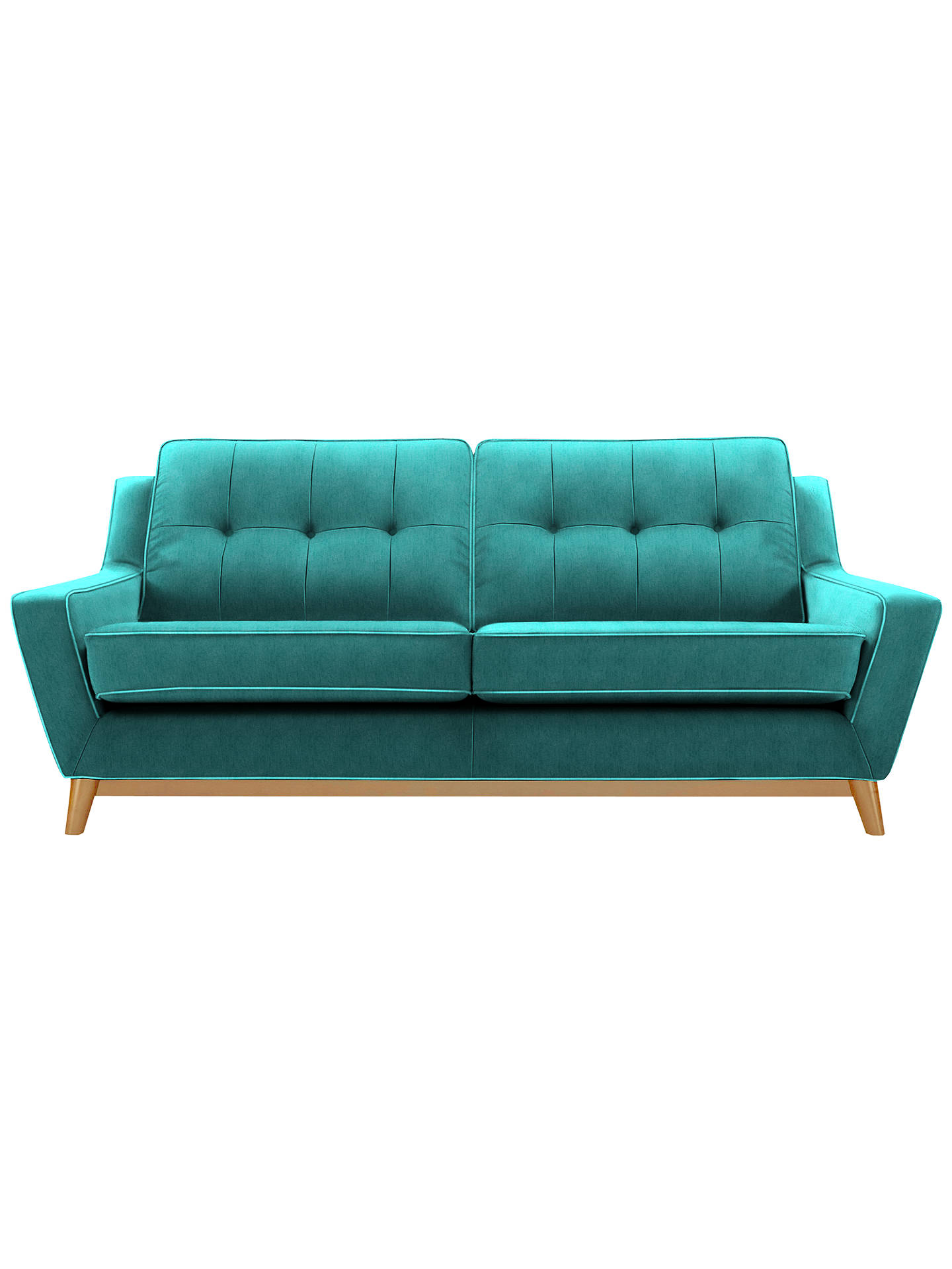 BuyG Plan Vintage The Fifty Three Large 3 Seater Sofa, Velvet Teal Online at johnlewis.com