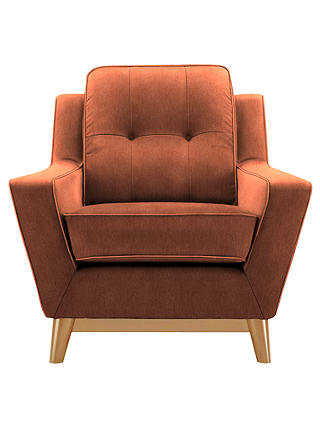 Buy G Plan Vintage The Fifty Three Armchair, Velvet Copper Online at johnlewis.com