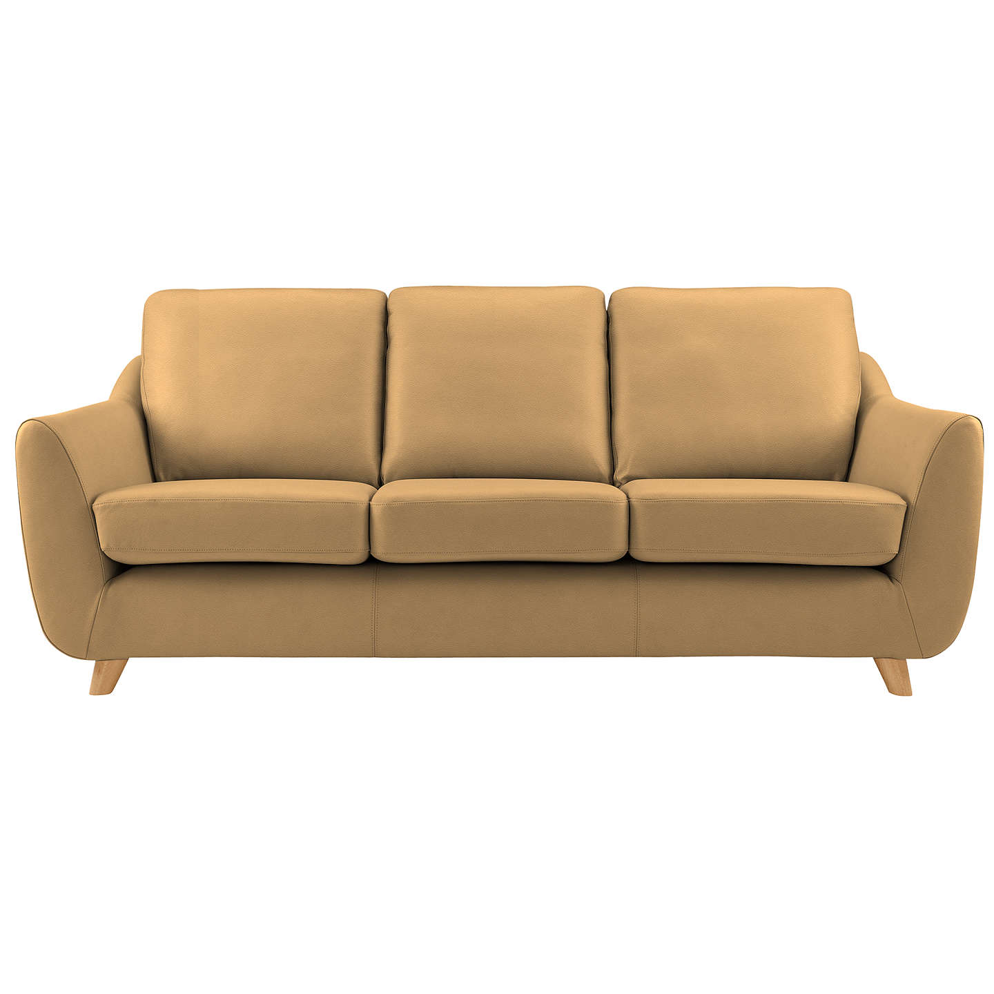 BuyG Plan Vintage The Sixty Seven Leather 3 Seater Sofa, Capri Sand Online at johnlewis.com