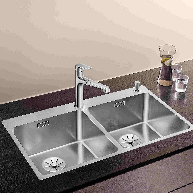 Inset Kitchen Sinks Blanco andano 400400ifa 2 bowl inset kitchen sink stainless steel buyblanco andano 400400ifa 2 bowl inset kitchen sink stainless steel online at johnlewis workwithnaturefo