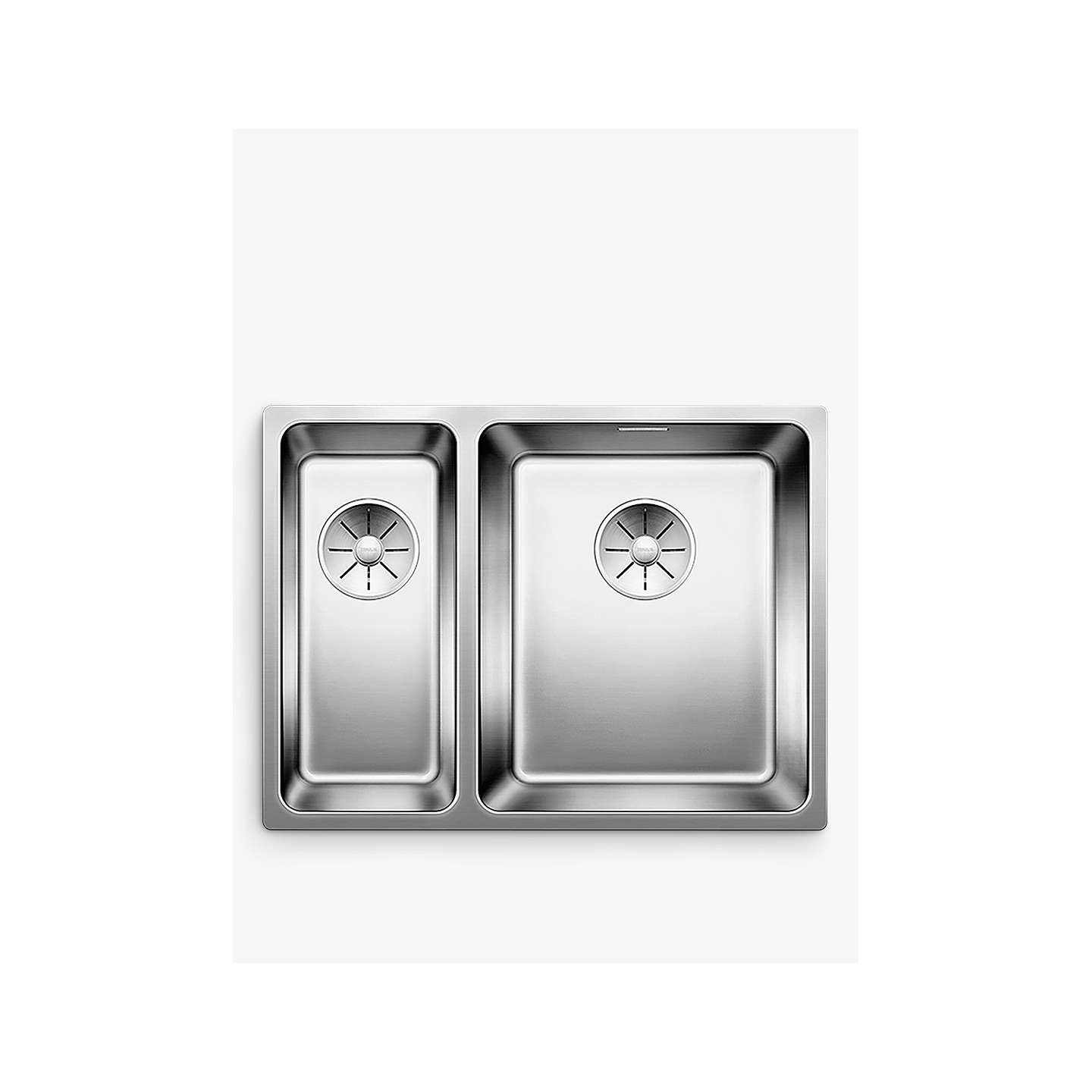 blanco andano 340 180 u 1 5 undermounted kitchen sink with right hand bowl stainless steel at. Black Bedroom Furniture Sets. Home Design Ideas