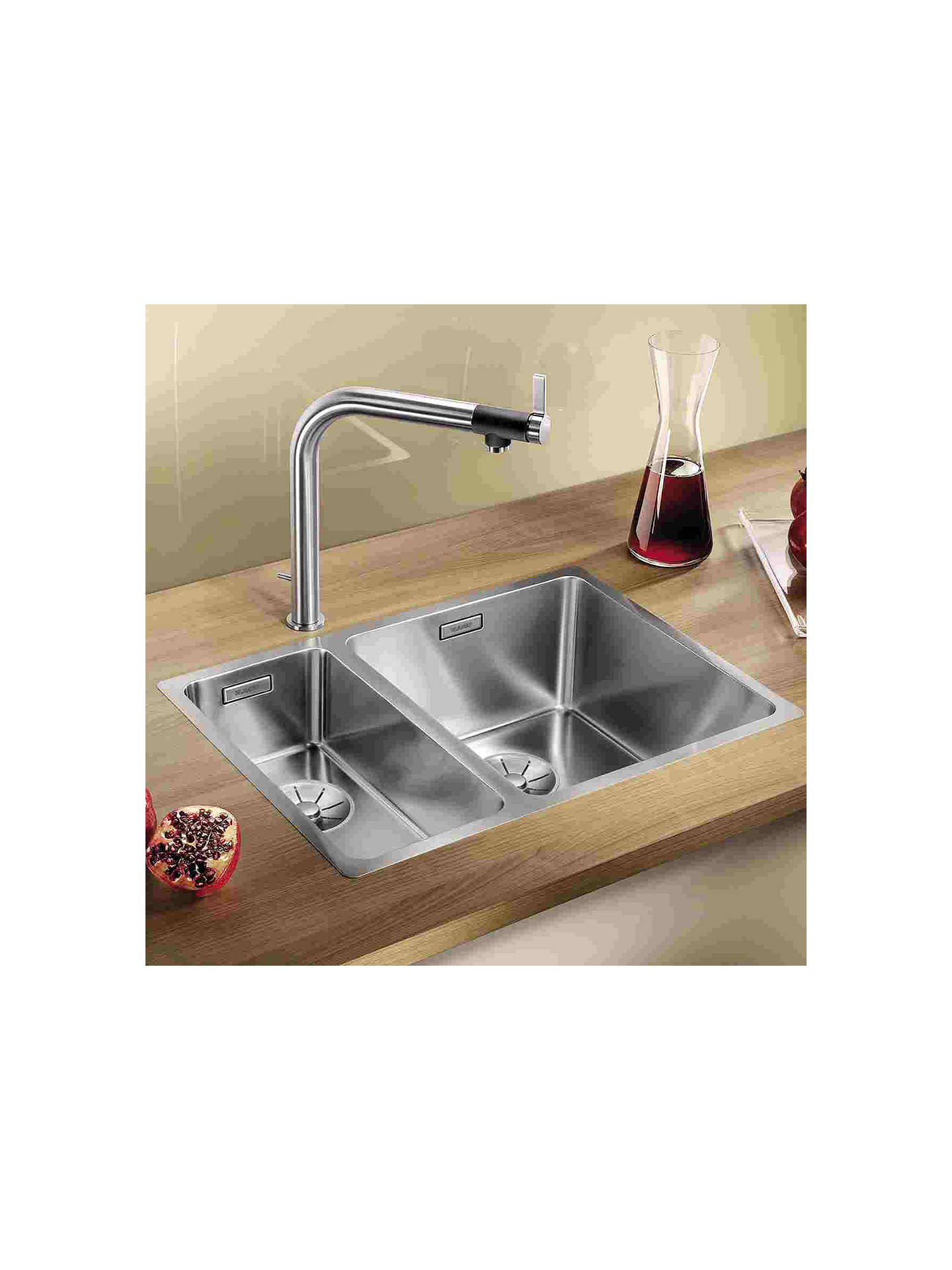 Blanco Andano 340/180-IF Inset Kitchen Sink with Right Hand Bowl ...