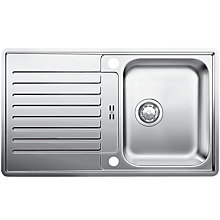 Buy Blanco Classic Pro 45S-IF Single Bowl Inset Sink, Stainless Steel Online at johnlewis.com