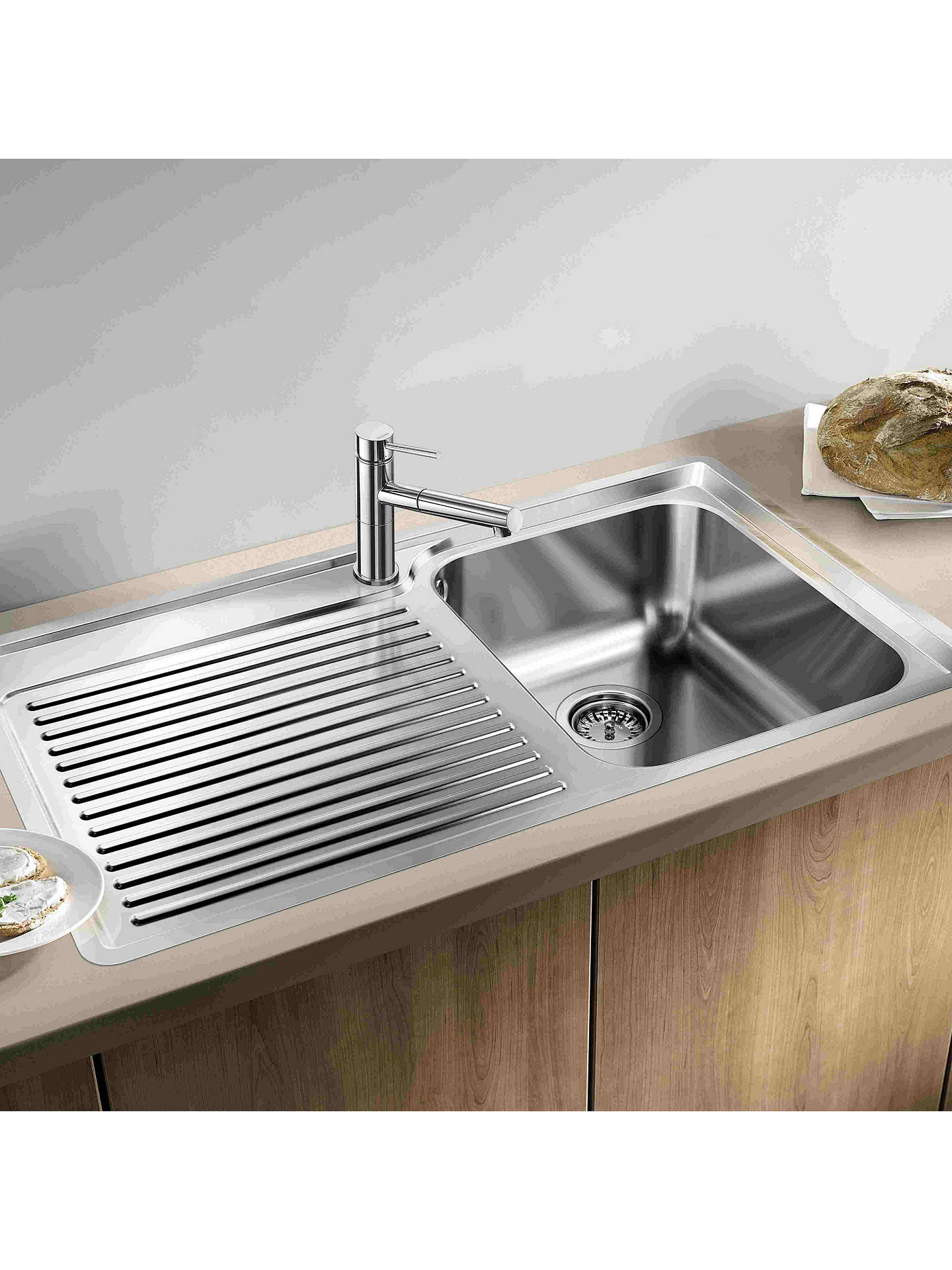 blanco classic 45 s if single inset kitchen sink with right hand rh johnlewis com
