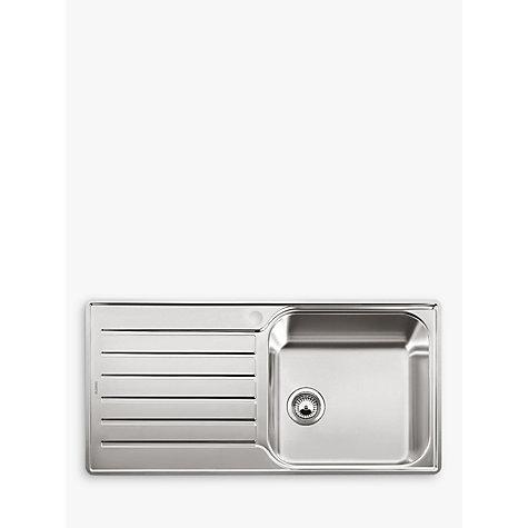 buy blanco lantos xl 6 s if single bowl inset kitchen sink stainless steel john lewis. Black Bedroom Furniture Sets. Home Design Ideas