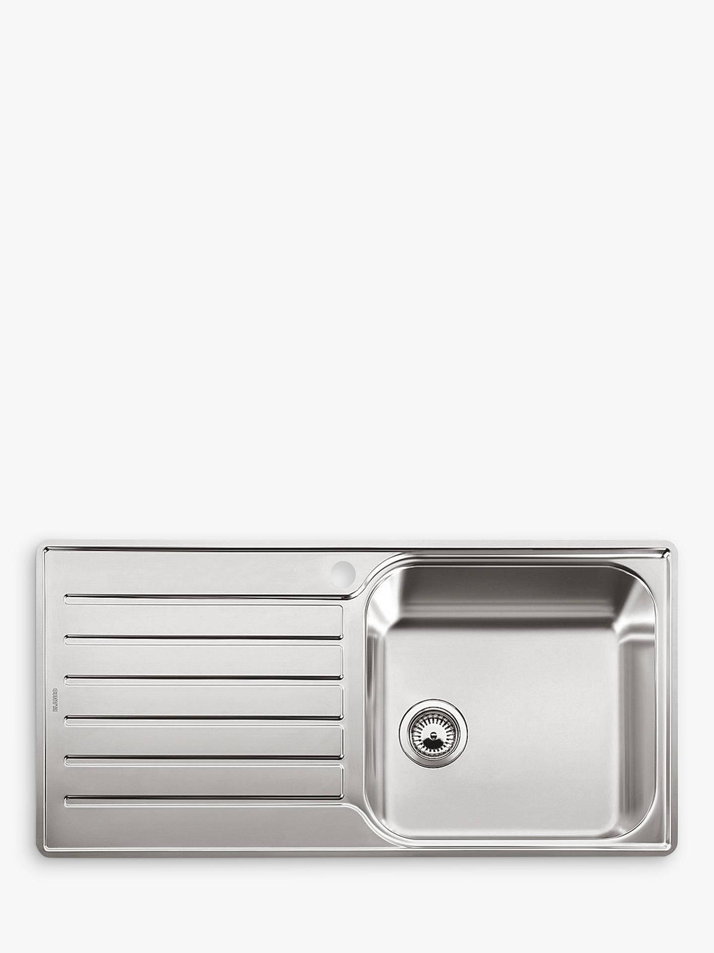 blanco lantos xl 6 s if single bowl inset kitchen sink stainless steel at john lewis partners. Black Bedroom Furniture Sets. Home Design Ideas