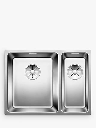 Blanco Andano 340/180-U 1.5 Undermounted Kitchen Sink with Left Hand Bowl, Stainless Steel