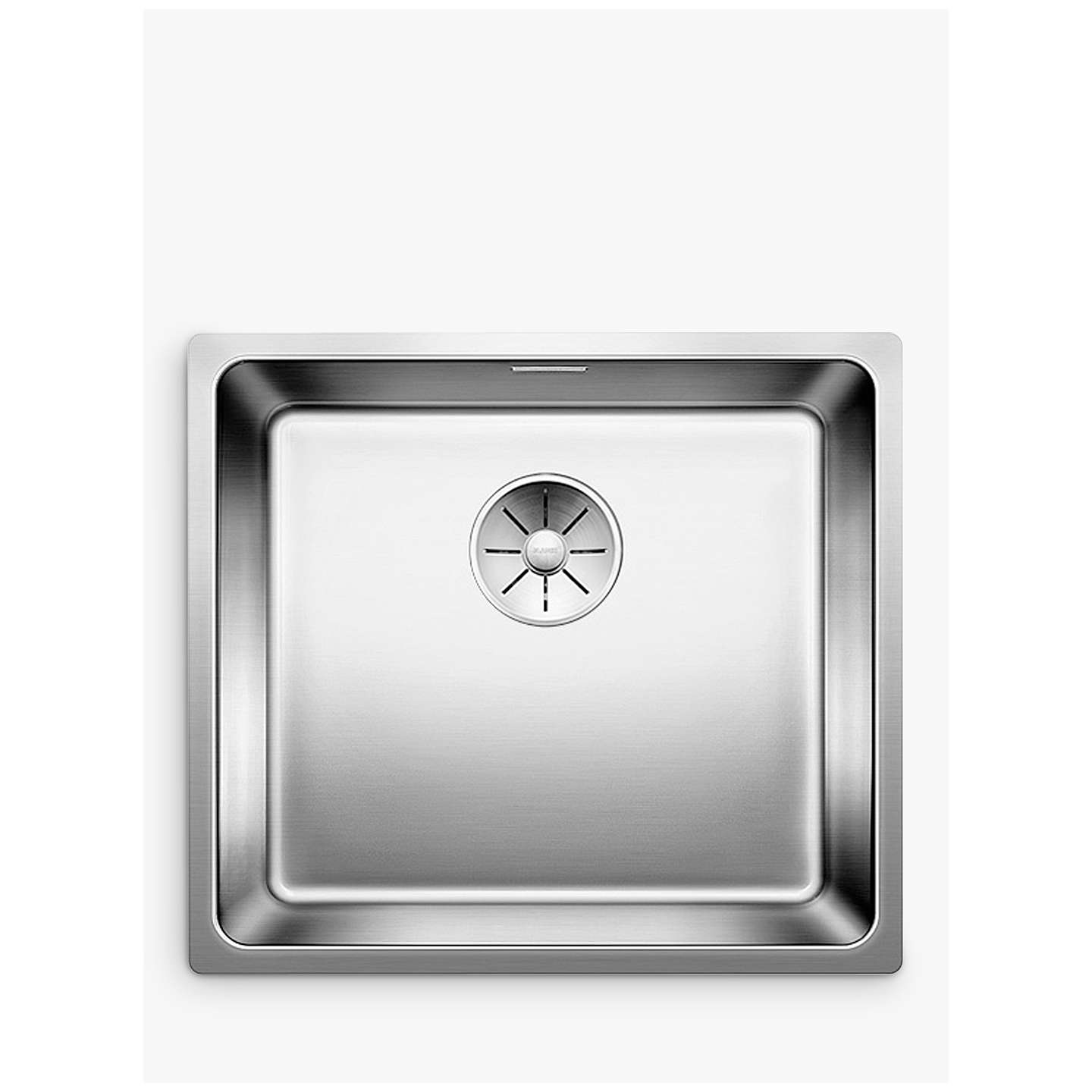 Inset Kitchen Sink Blanco andano 450 if single bowl inset kitchen sink stainless steel buyblanco andano 450 if single bowl inset kitchen sink stainless steel online at johnlewis workwithnaturefo