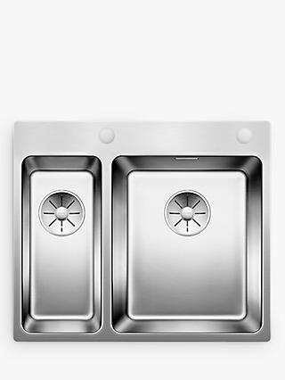 Blanco Andano 340/180IFA 1.5 Inset Kitchen Sink with Right Hand Bowl, Stainless Steel