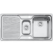 Buy Blanco Classic 6S 1.5 Inset Kitchen Sink, Stainless Steel Online at johnlewis.com