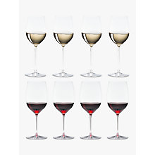 Buy Riedel Veritas Cabernet / Merlot & Viognier / Chardonnay Wine Glasses, Set of 8 Online at johnlewis.com