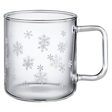 Buy John Lewis Chamonix Snowflake Mug, White Online at johnlewis.com