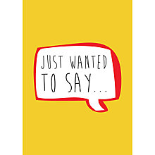 Buy Dear Henry Just To Say Notecards, Pack of 8 Online at johnlewis.com