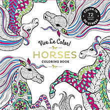 Buy Vive Le Color! Horses Colouring Book Online at johnlewis.com