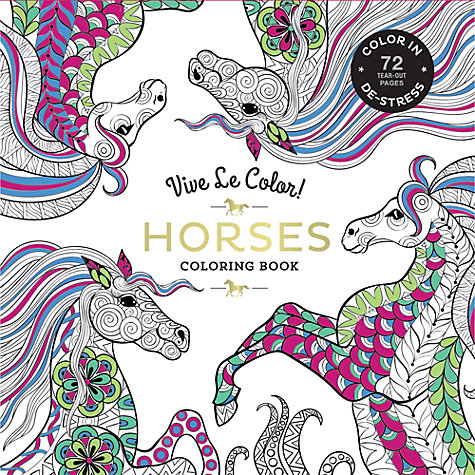 Ipad Coloring Book Le Pencil : Buy vive le color! horses colouring book john lewis