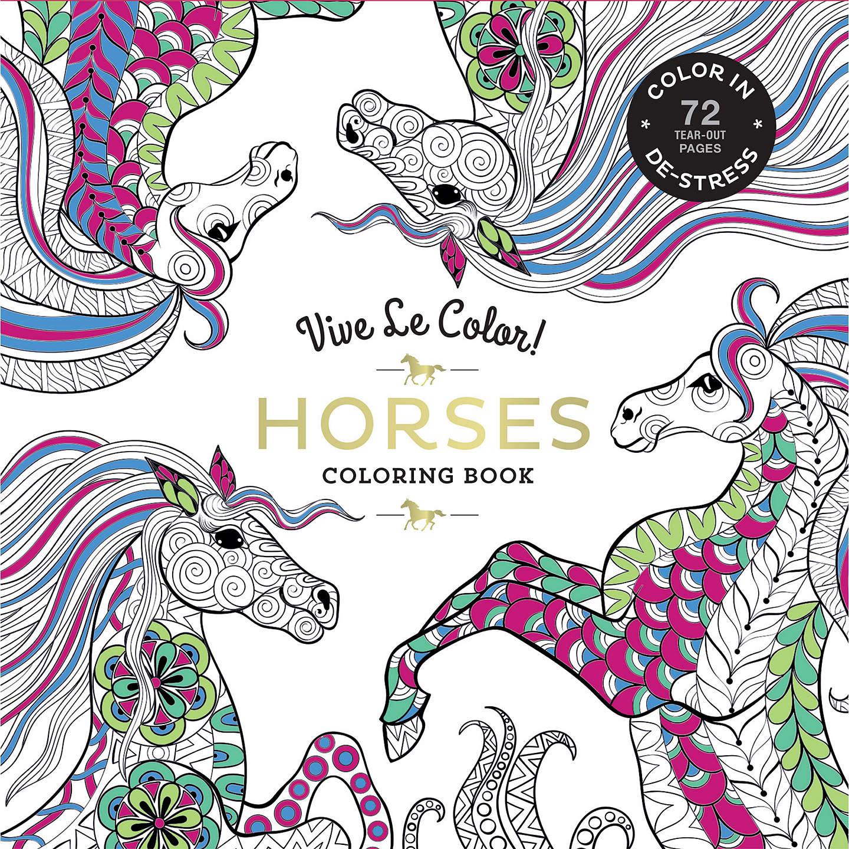 Vive Le Color! Horses Colouring Book at John Lewis
